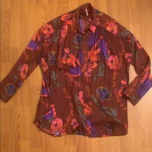 Free People long sleeve top size M NWOT